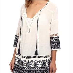Free People Counting Stars Embroidered Tunic